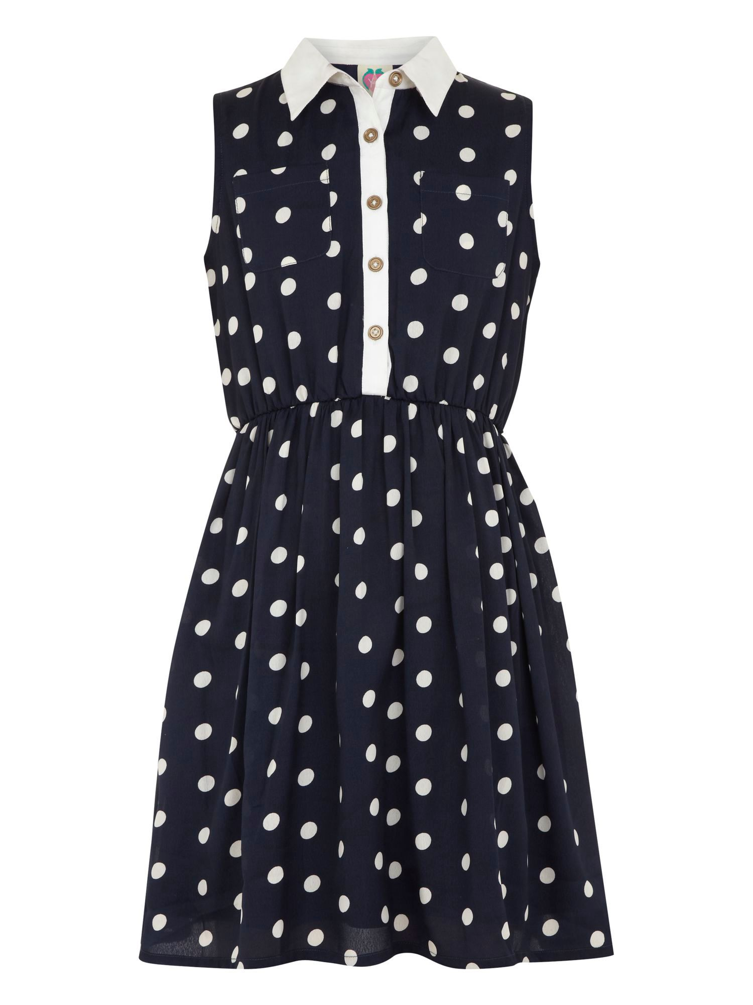 Girl`s spot shirt dress