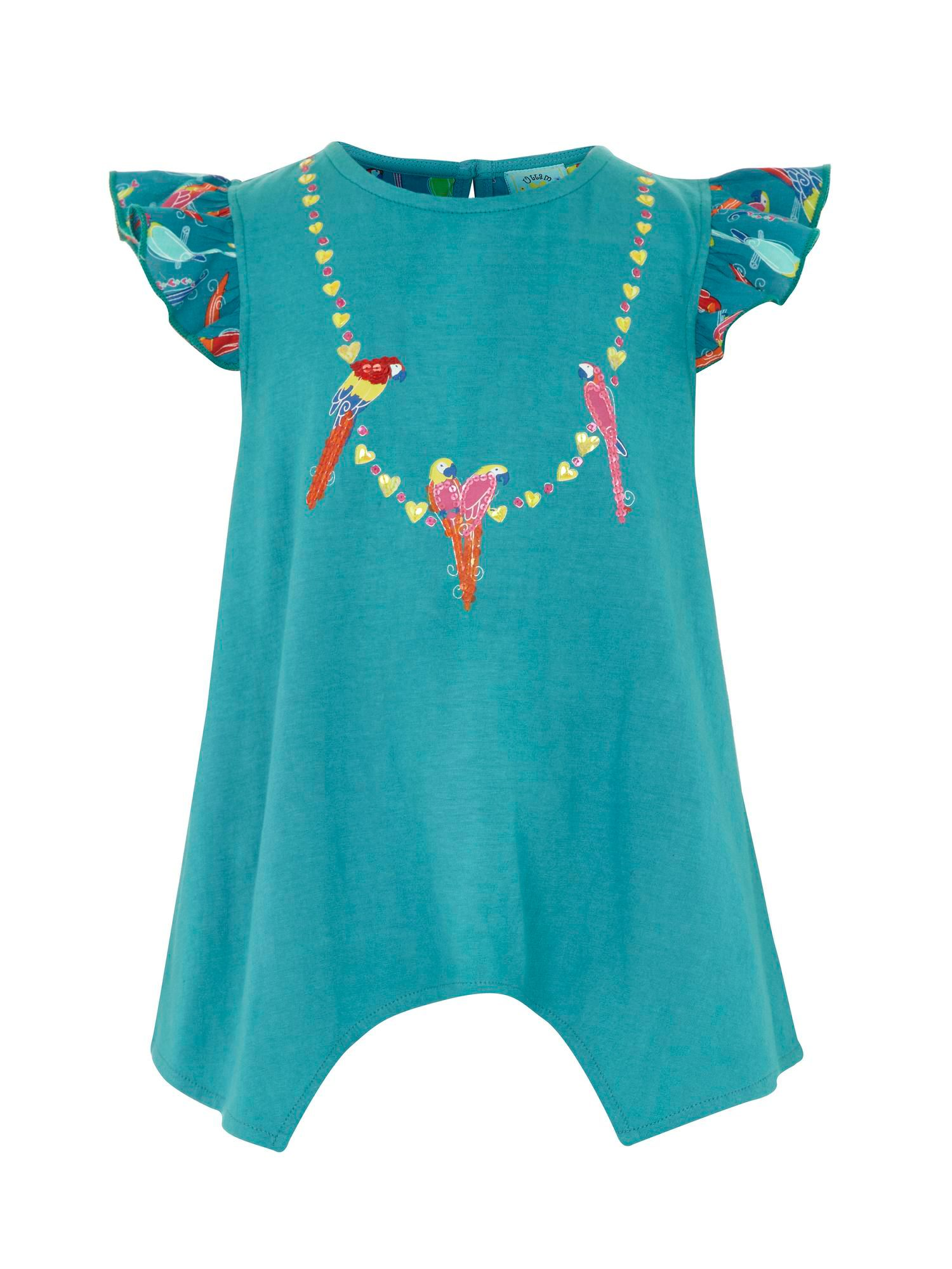 Girl`s parrot necklace t-shirt