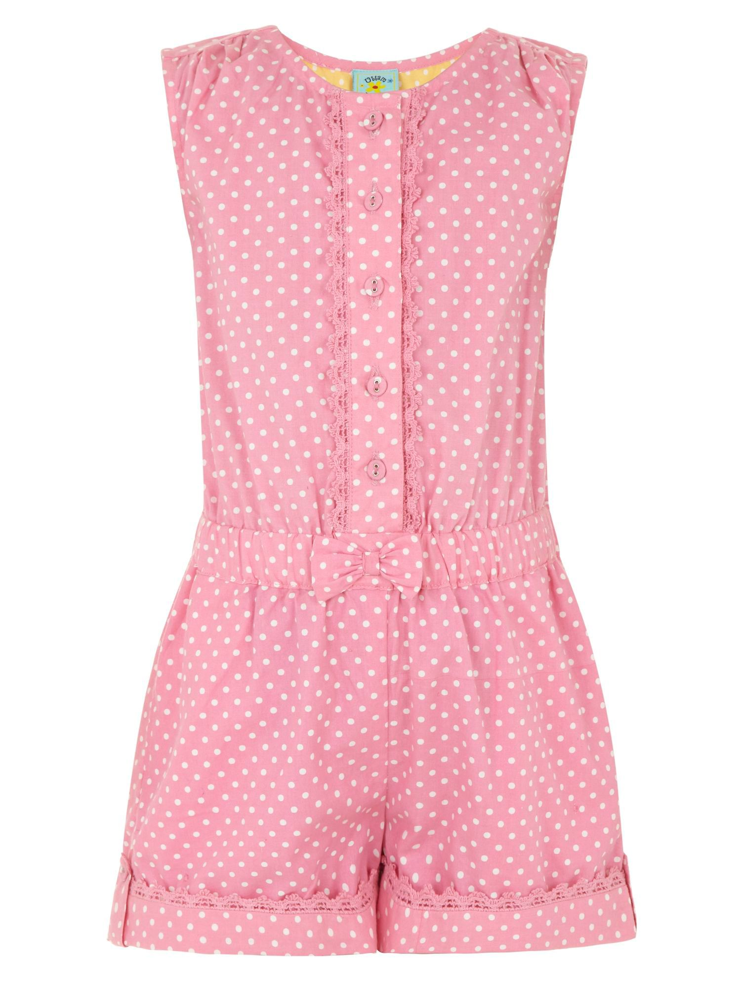 Girl`s spot playsuit