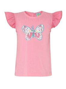 Girl`s butterfly t-shirt