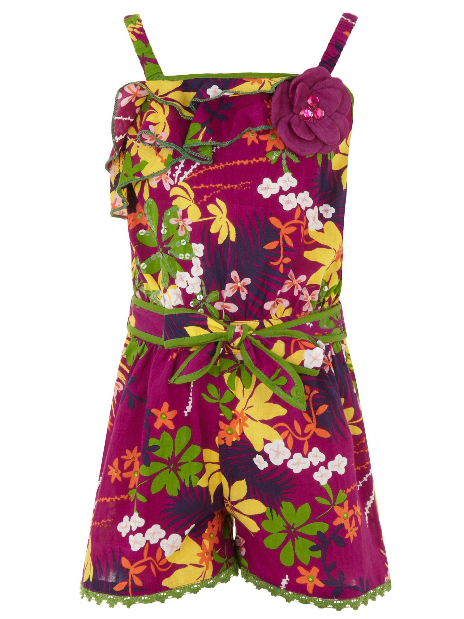 Girl`s rainforest playsuit
