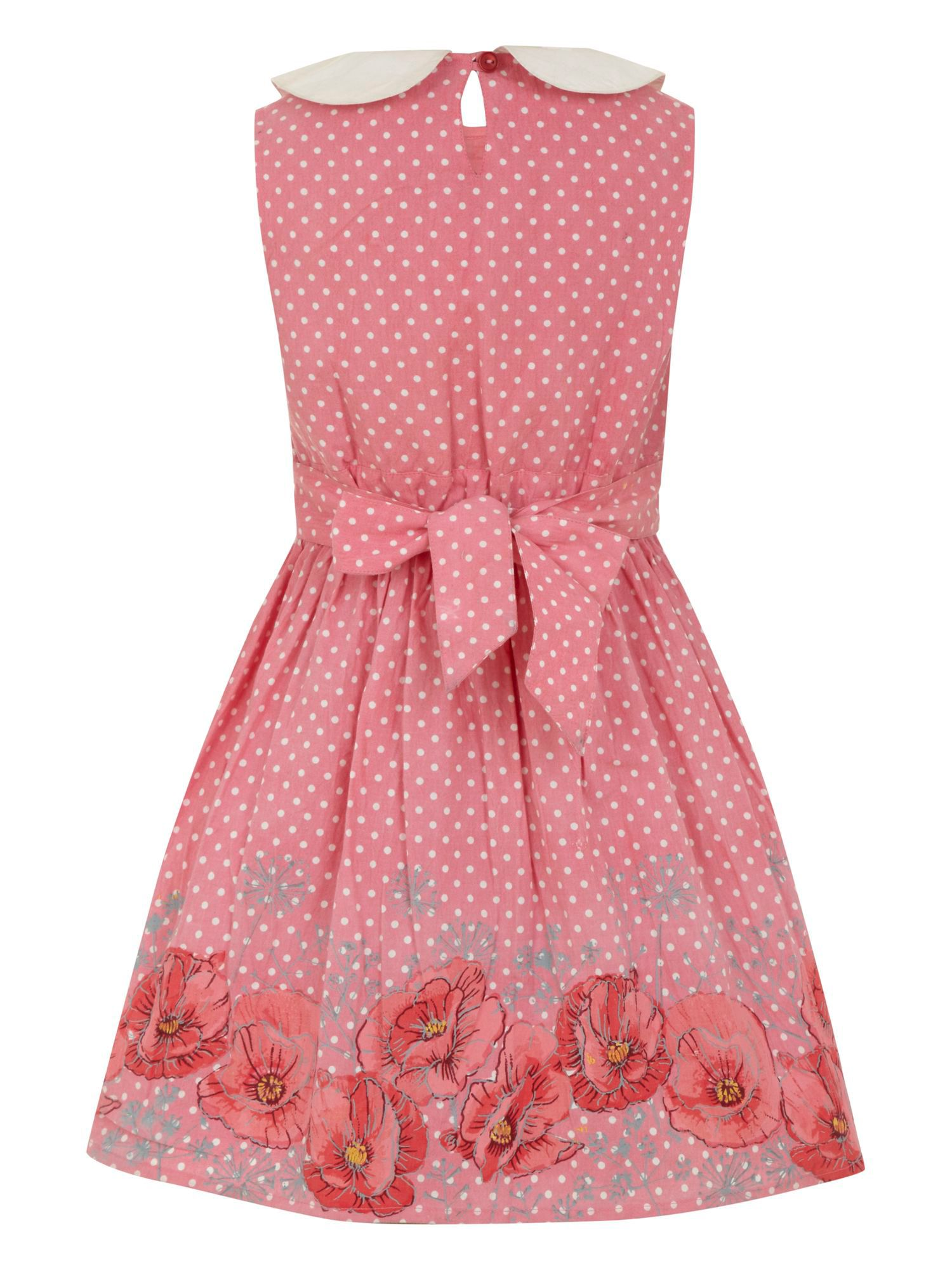 Girl`s 50`s poppy print dress