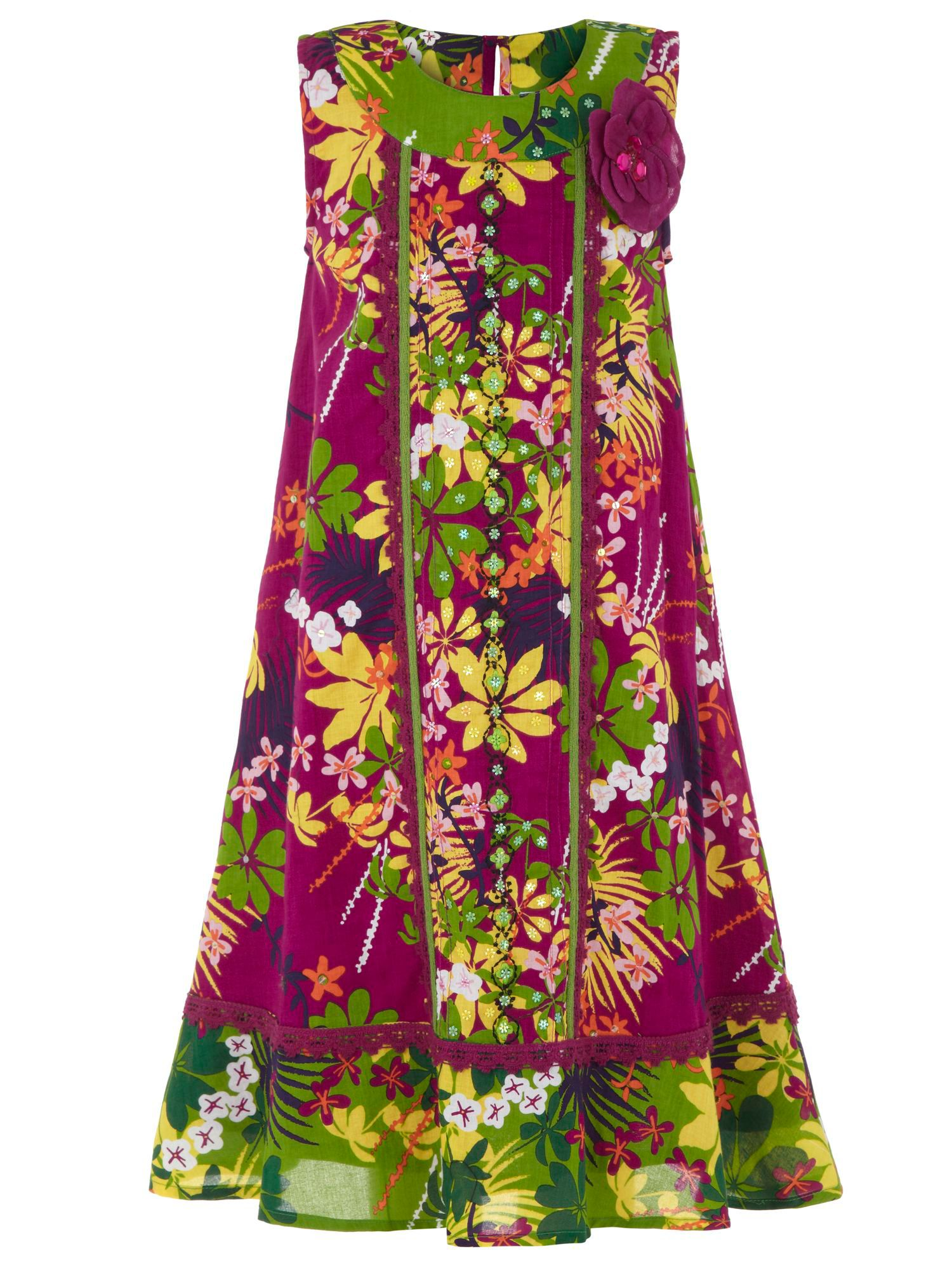Girl`s rainforest dress