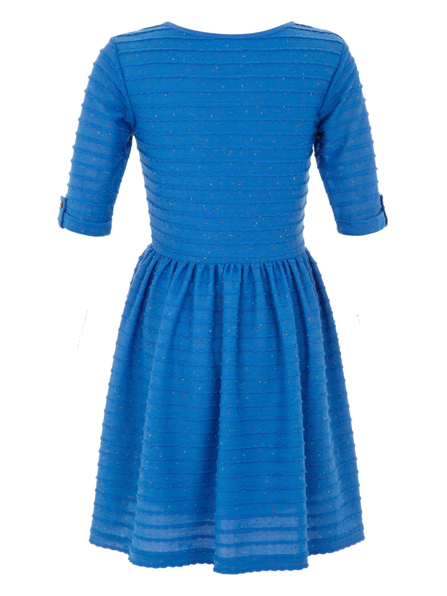 Girls textured jersy dress