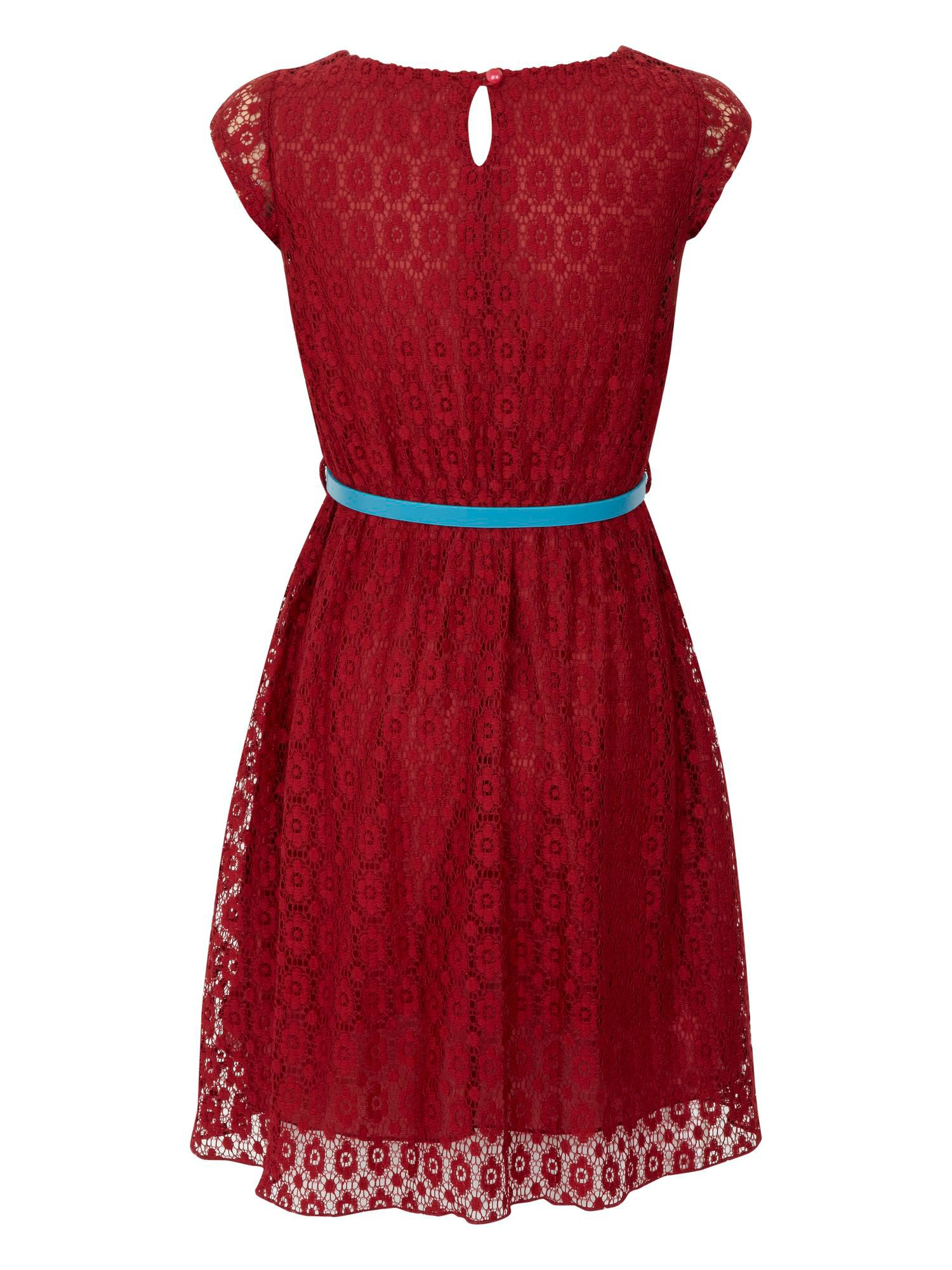 Girls lace heart dress