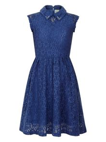 Girls space lace dress