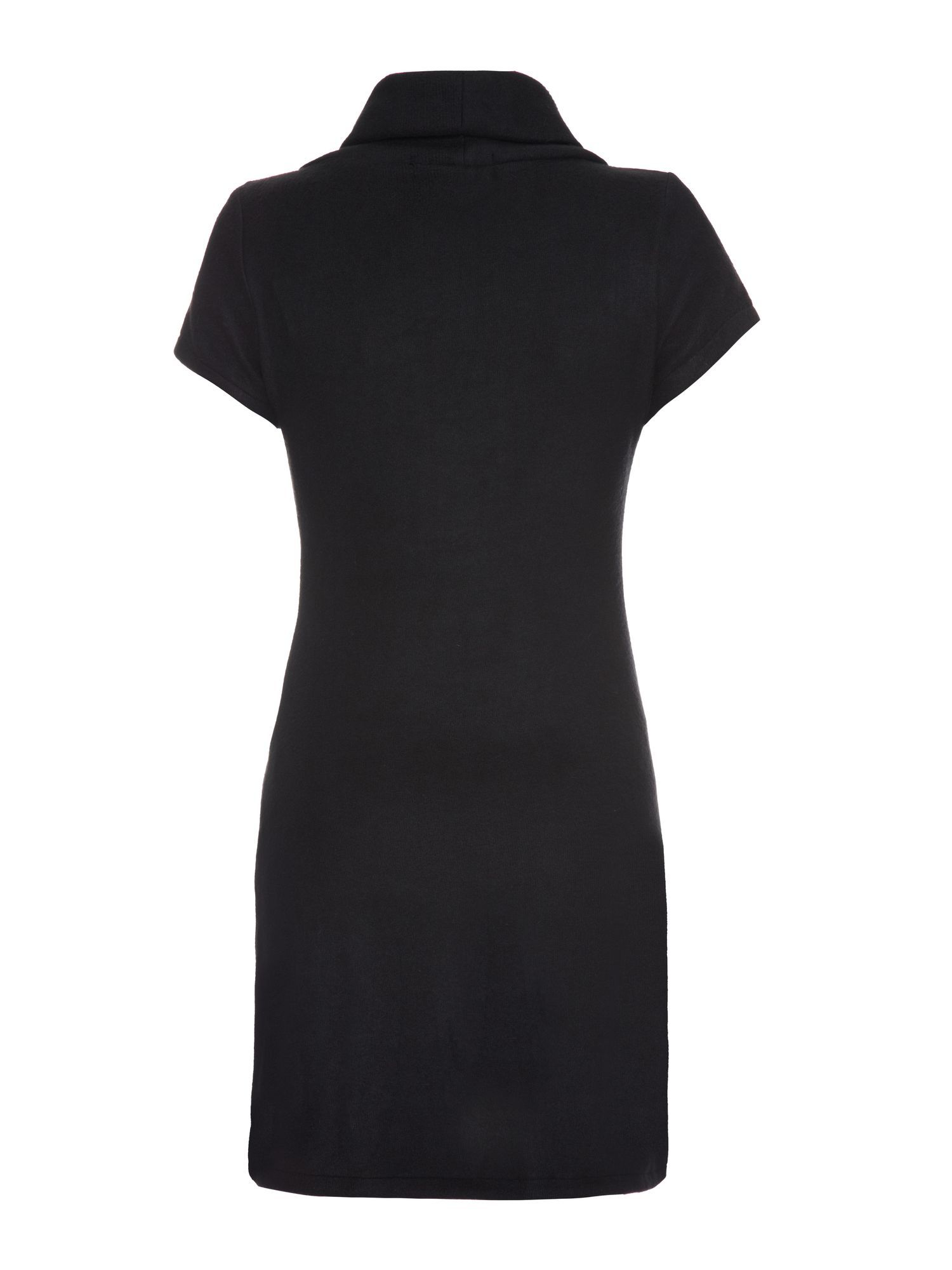 Cowl neck plain dress