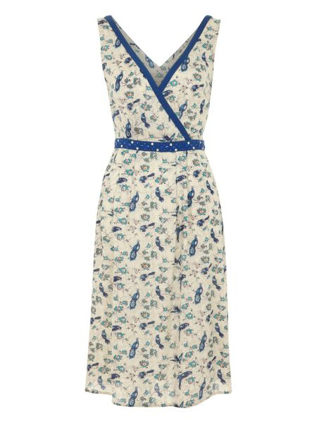 Uttam Boutique Bird and flower wrap dress