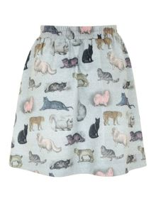 Raining Cats and Dogs Skirt