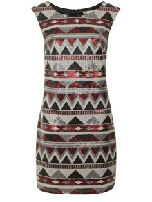 Aztec Sequin Dress