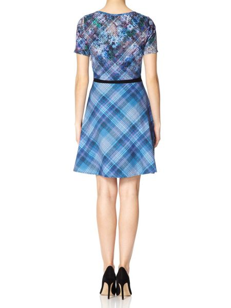 Yumi The 90s Check Floral Dress