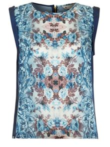 The Mirrored Paisley Floral Top