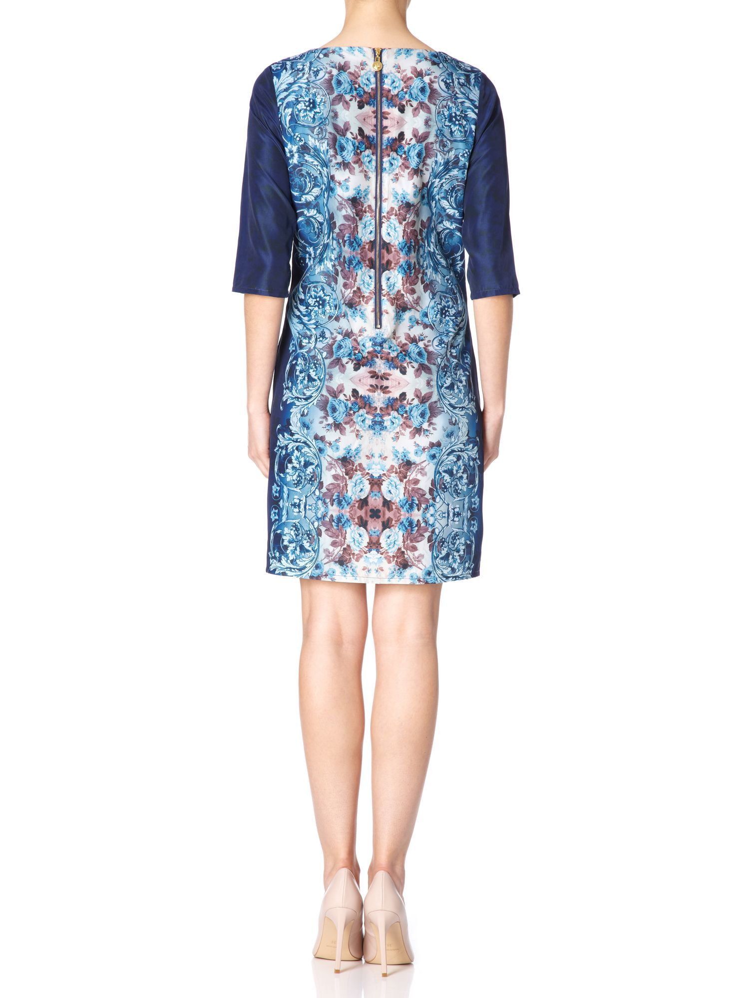 The Mirrored Paisley Floral Dress