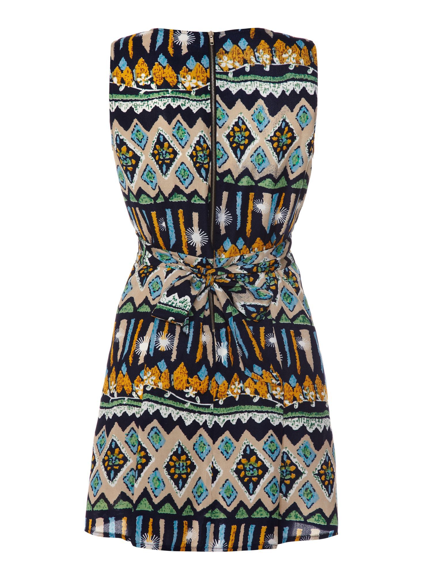 Tribal v neck dress