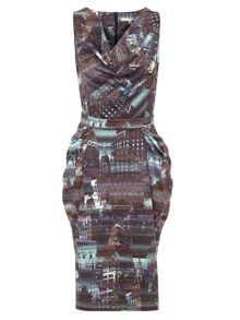 Uttam Boutique City Print Dress