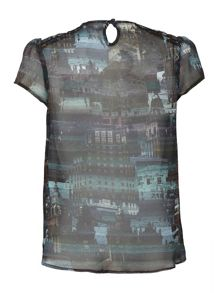 Uttam Boutique City Print Top