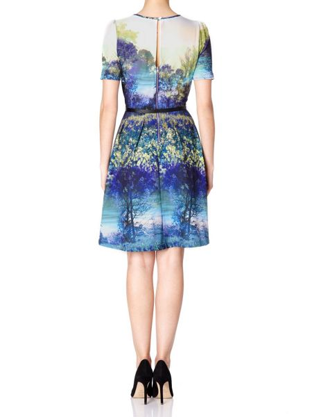 Uttam Boutique Trees and Bluebell Print Dress