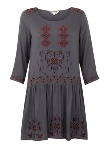 Eclectic Embroidery Dress