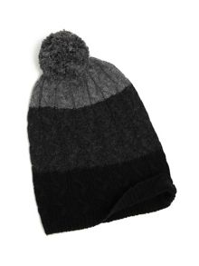 Yumi Striped Bobble Hat