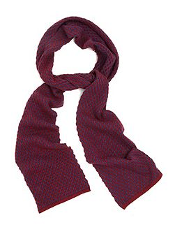 Two-Tone Textured Scarf