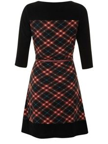 The Contrast Check Dress