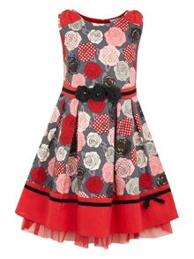 Girls printed bow dress