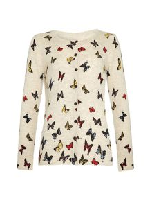 Yumi Girls Girls butterfly cardigan