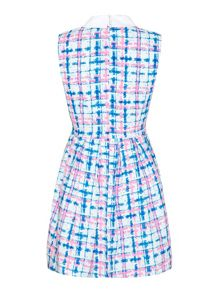 Mela Loves London Check print collar dress