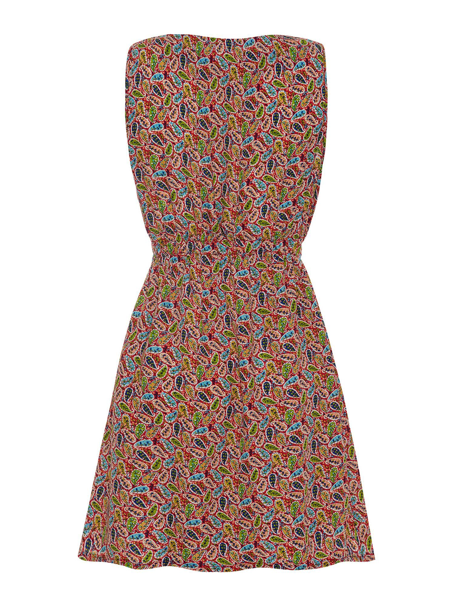 Paisley Print Zip Pocket Dress