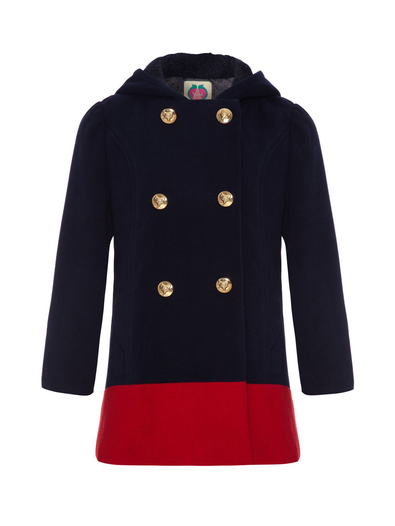 Girls fox school coat