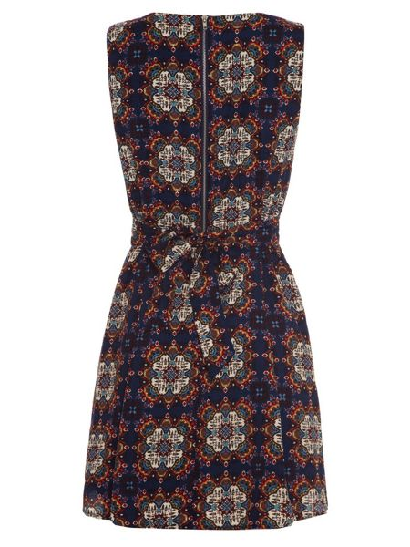 Mela London Patterned Tie Back Dress