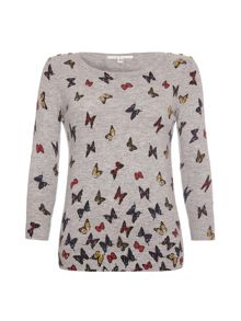Buttons and butterflies jumper