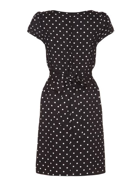 Yumi Spotty Pleat Front Dress