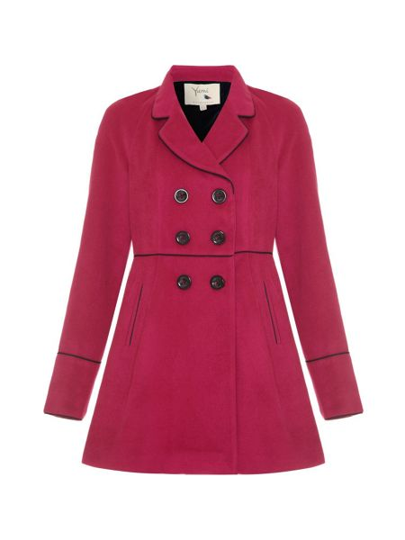 Yumi Coat with Piping
