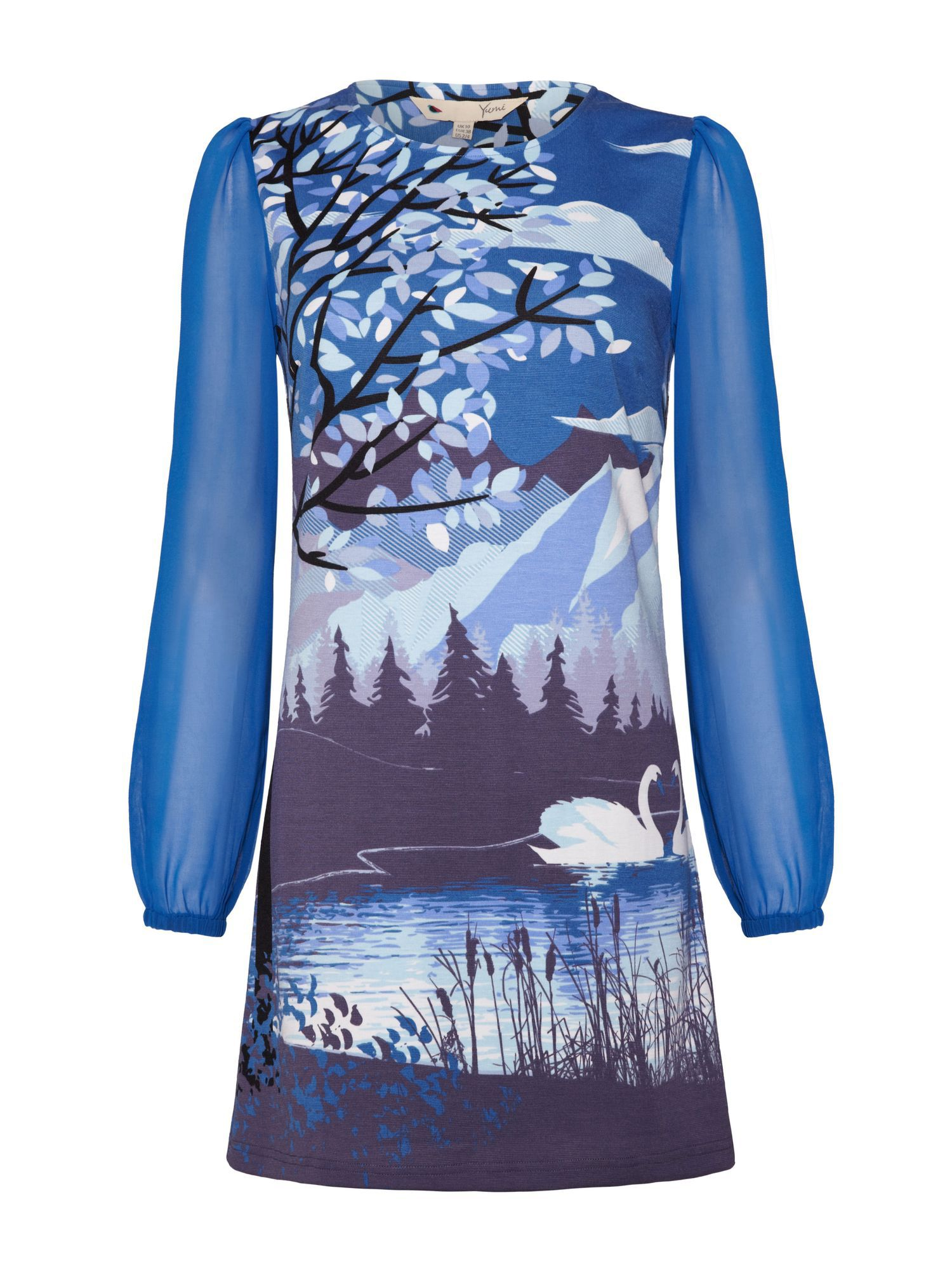 Yumi Trees and Swans Tunic
