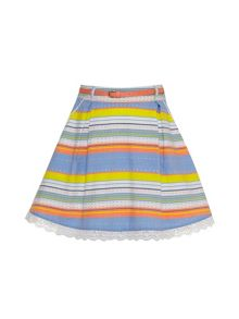 Girls striped cotton skirt