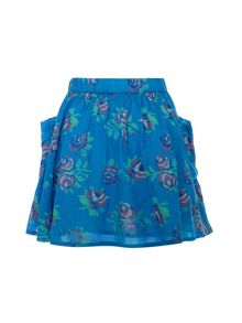 Girls rose print skirt