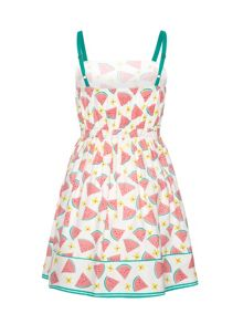 Girls Watermelon Print Sun Dress