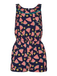 Girls Watermelon Print Play-Suit