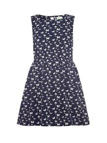 Butterfly and dragonflies print dress