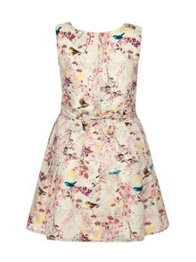 Girls Eastern Bird Print Dress