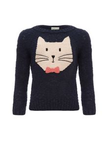 Girls girls cat face jumper