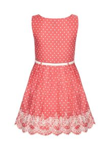 Girls polka dot print dress