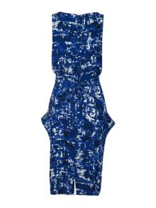 Uttam Boutique Koons print cowl neck dress