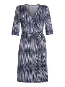 Uttam Boutique Grid wrap dress