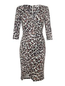Leopard Print Wrap Dress