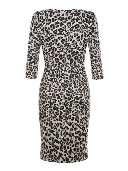 Uttam Boutique Leopard Print Wrap Dress