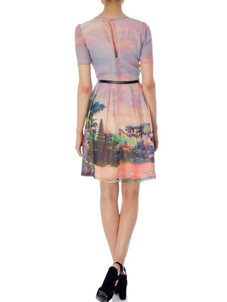 Uttam Boutique Eastern sunset print dress