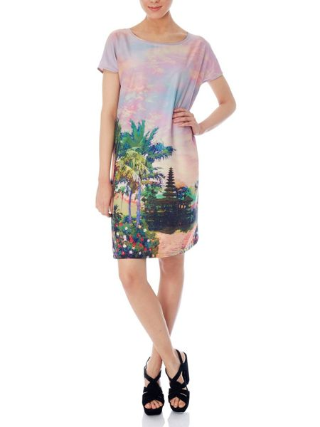Uttam Boutique Eastern sunset print shift dress