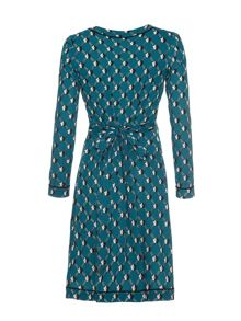 Uttam Boutique Geo daisy wrap dress